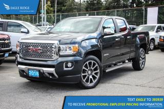 New 2018 GMC Canyon Denali Navigation, Heated Seats, and Backup Camera for sale in Port Coquitlam, BC