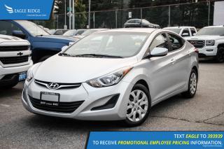 Used 2014 Hyundai Elantra GL Heated Seats and Satellite Radio for sale in Port Coquitlam, BC