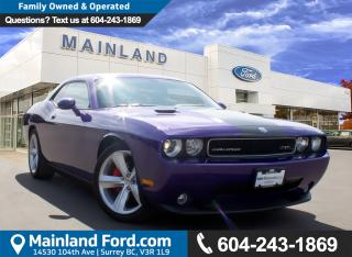 Used 2010 Dodge Challenger SRT8 LOW KMS, NO ACCIDENTS for sale in Surrey, BC