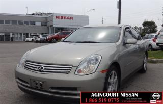 Used 2003 Infiniti G35 Luxury |AS-IS SUPER SAVER| for sale in Scarborough, ON