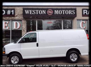 Used 2011 Chevrolet Express G2500*FLEX FUEL*A/C*POWER GROUP*SHELVING* for sale in York, ON