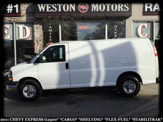 Used 2011 Chevrolet Express 2500 G2500*FLEX FUEL*A/C*POWER GROUP*SHELVING* for sale in York, ON