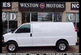 Used 2006 Chevrolet Express G2500*A/C*POWER GROUP*SHELVING* for sale in York, ON