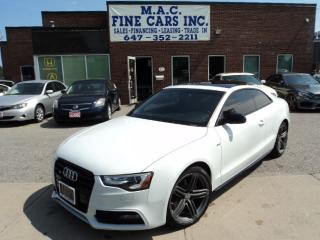 Used 2013 Audi A5 S-LINE - NAVIGATION - REAR CAM for sale in North York, ON