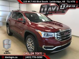 New 2018 GMC Acadia SLE-2-AWD, Heated Seats, 7 Passenger, Driver Alert Package 1 for sale in Lethbridge, AB