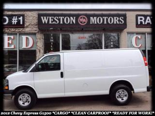 Used 2012 Chevrolet Express 1500 G1500* CLEAN CARPROOF* READY FOR WORK! for sale in York, ON