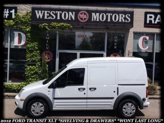 Used 2012 Ford Transit Connect XLT* CLEAN CARPROOF* SHELVING* WON'T LAST LONG! for sale in York, ON