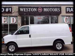 Used 2013 Chevrolet Express 1500 G1500* AWD* CARGO* READY FOR WORK for sale in York, ON