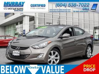 Used 2013 Hyundai Elantra Limited w/Nav**HEATED SEATS**LEATHER INTERIOR** for sale in Surrey, BC