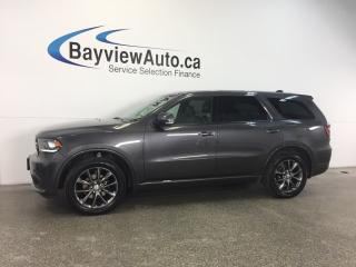 Used 2017 Dodge Durango GT- REM START! ROOF! HTD LTHR! REV CAM! UCONNECT! for sale in Belleville, ON
