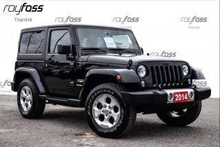 Used 2014 Jeep Wrangler Sahara 2 Door Bluetooth Must See for sale in Thornhill, ON
