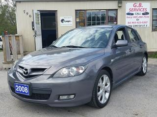 Used 2008 Mazda MAZDA3 GS,,certified for sale in Oshawa, ON