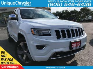 Used 2015 Jeep Grand Cherokee Overland | ADV BRAKE ASSIST | OPEN SUNDAY | for sale in Burlington, ON
