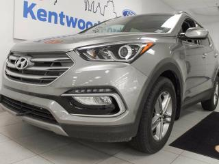 Used 2017 Hyundai Santa Fe Sport 2.4 Luxury- heated leather seats and steering wheel, sunroof, power drivers seat and a back up cam for sale in Edmonton, AB