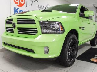 Used 2017 Dodge Ram 1500 Sport-NAV, sunroof, leather heated seats and steering wheel, back up cam and liiiime green for sale in Edmonton, AB