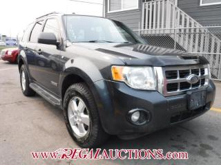 Used 2008 Ford ESCAPE XLT 4D UTILITY 4WD for sale in Calgary, AB