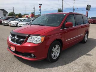 Used 2012 Dodge GRAND CARAVAN CREW * POWER GROUP * SATELLITE RADIO SYSTEM * 7 PASS for sale in London, ON