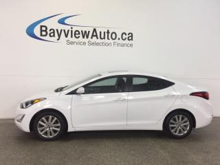 Used 2016 Hyundai Elantra SE- ALLOYS! ROOF! HTD SEATS! REV CAM! BLUETOOTH! for sale in Belleville, ON