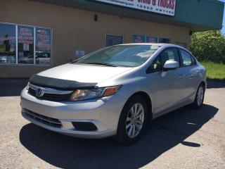 Used 2012 Honda Civic EX 89.79 BI WEEKLY! $ 0 DOWN! CERTIFIED! HUGE PRICE DROP!!! for sale in Bolton, ON