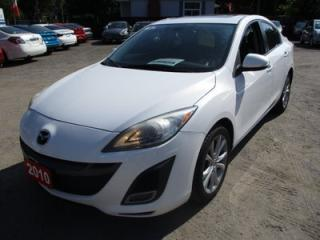 Used 2010 Mazda MAZDA3 'SPORTY' 2.5 MODEL 5 PASSENGER 2.5L - DOHC.. CLOTH.. POWER SUNROOF.. BLUETOOTH.. CD/AUX INPUT.. KEYLESS ENTRY.. for sale in Bradford, ON