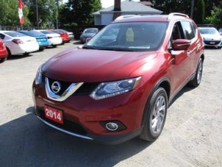 Used 2014 Nissan Rogue LOADED SL EDITION 5 PASSENGER 2.5L - DOHC.. HEATED SEATS.. NAVIGATION.. PANORAMIC ROOF.. TOUCH SCREEN DISPLAY.. BACK UP CAMERA.. BLUETOOTH.. for sale in Bradford, ON