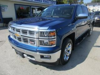 Used 2015 Chevrolet Silverado 1500 LOADED LTZ MODEL 5 PASSENGER 5.3L - V8.. 4X4.. CREW.. SHORTY.. LEATHER.. HEATED/AC SEATS.. NAVIGATION.. SUNROOF.. BACK-UP CAMERA.. for sale in Bradford, ON