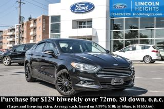 Used 2014 Ford Fusion SE - LEATHER - BLUETOOTH - REAR CAMERA - REMOTE START - NAV for sale in Ottawa, ON