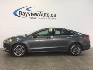 Used 2017 Ford Fusion SE- AWD! ROOF! ECOBOOST! HTD LTHR! NAV! SYNC! for sale in Belleville, ON