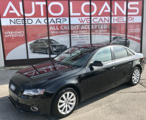 Used 2012 Audi A4 2.0T Premium PREMIUM-ALL CREDIT ACCEPTED for sale in Scarborough, ON