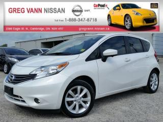 Used 2015 Nissan Versa NOTE SL 5spd w/NAV,cruise,push button start,heated seats,rear cam,pwr heated mirrors for sale in Cambridge, ON