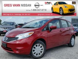 Used 2015 Nissan Versa NOTE SV w/keyless entry,cruise,xm radio,rear cam for sale in Cambridge, ON