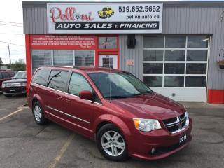 Used 2011 Dodge Grand Caravan CREW|STOW N' GO|REAR A/C|ONE OWNER for sale in London, ON
