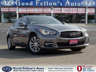 Used 2014 Infiniti Q50 SPORT, AWD, SUNROOF, LEATHER, NAVI, CAMERA, 6CYL, for sale in North York, ON