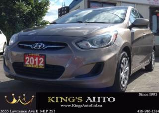 Used 2012 Hyundai Accent GLS, TRACTION CONTROL, ECO MODE, TIPTRONIC TRANY for sale in Scarborough, ON