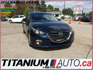 Used 2014 Mazda MAZDA3 GS-SKY+GPS+Camera+Sunroof+Fog Lights+Heated Seats+ for sale in London, ON