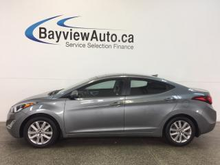 Used 2016 Hyundai Elantra SE- TURBO! ROOF! HTD SEATS! REV CAM! CRUISE! for sale in Belleville, ON
