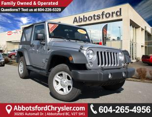 Used 2015 Jeep Wrangler Sport ACCIDENT FREE! for sale in Abbotsford, BC
