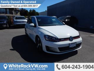 Used 2015 Volkswagen Golf GTI 5-Door Autobahn AUTOBAHN, HEATED FRONT SEATS, POWER MOONROOF & TOUCHSCREEN RADIO DATA SYSTEM for sale in Surrey, BC