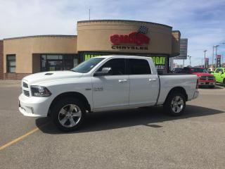 Used 2014 RAM 1500 SPORT LOW KMS P-ROOF-LTHR HTED AND COOL SEATS CREW for sale in Scarborough, ON