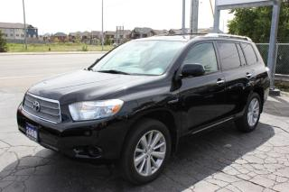 Used 2009 Toyota Highlander Hybrid Hybrid Leather Loaded Accident Free for sale in Brampton, ON