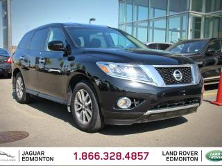 Used 2014 Nissan Pathfinder S 4x4 - Local One Owner Trade In | No Accidents | Seats 7 | 3rd Row Seat | 18 Inch Wheels | 3 Zone Climate Control with AC | Push Button Start | Spacious Interior | 2 Sets of Rims and Tires Included | Low KMs for sale in Edmonton, AB