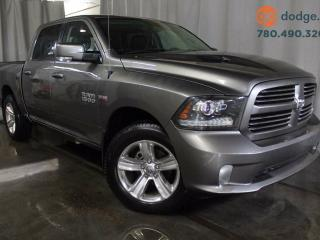 Used 2013 Dodge Ram 1500 Sport 4x4 Crew Cab / Sunroof / Rear Back Up Camera / Heated Steering Wheel / Heated and Ventilated Front Seats for sale in Edmonton, AB