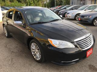 Used 2013 Chrysler 200 Limited/AUTO/LEATHER/ALLOYS/DRIVES MINT for sale in Pickering, ON