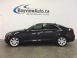 Used 2014 Cadillac ATS - 6 SPEED! TURBO! REV CAM! LEATHER! BOSE! for sale in Belleville, ON