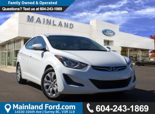 Used 2015 Hyundai Elantra GL NO ACCIDENTS for sale in Surrey, BC