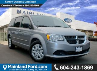 Used 2016 Dodge Grand Caravan SE/SXT LOW KMS, NO ACCIDENTS, LOCAL for sale in Surrey, BC