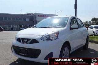 Used 2017 Nissan Micra SV  Bluetooth Cruise AC  for sale in Scarborough, ON