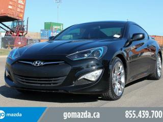 Used 2016 Hyundai Genesis Coupe 3.8 R SPEC BREMBO BRAKES SPOILER 1 OWNER LOCAL ACCIDENT FREE for sale in Edmonton, AB