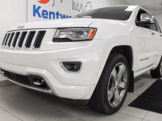 Used 2014 Jeep Grand Cherokee Overland 4x4 eco-diesel with NAV, sunroof, heated seats all around, power leather seats and push start/stop for sale in Edmonton, AB
