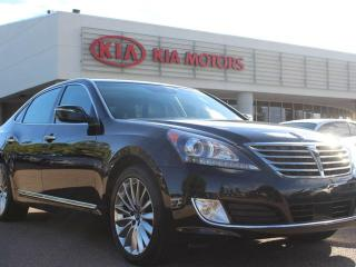 Used 2014 Hyundai Equus ULTIMATE, COOLED/HEATED FRONT AND REAR SEATS, SUNROOF, NAVI, 360 BACKUP CAM, HEATED WHEEL, REAR ENTERTAINMENT SYSTEM, AUX / USB for sale in Edmonton, AB